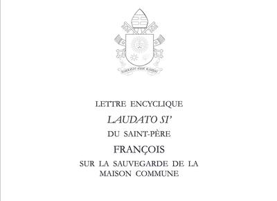 """Retrouvez l'encyclique """"Laudato Si"""" sur la sauvegarde de la Maison commune du Pape François, donnée à Rome, le 24 mai 2015."""